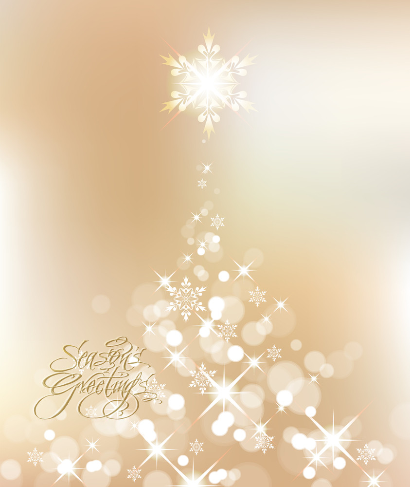 Vector Shinny Christmas Tree