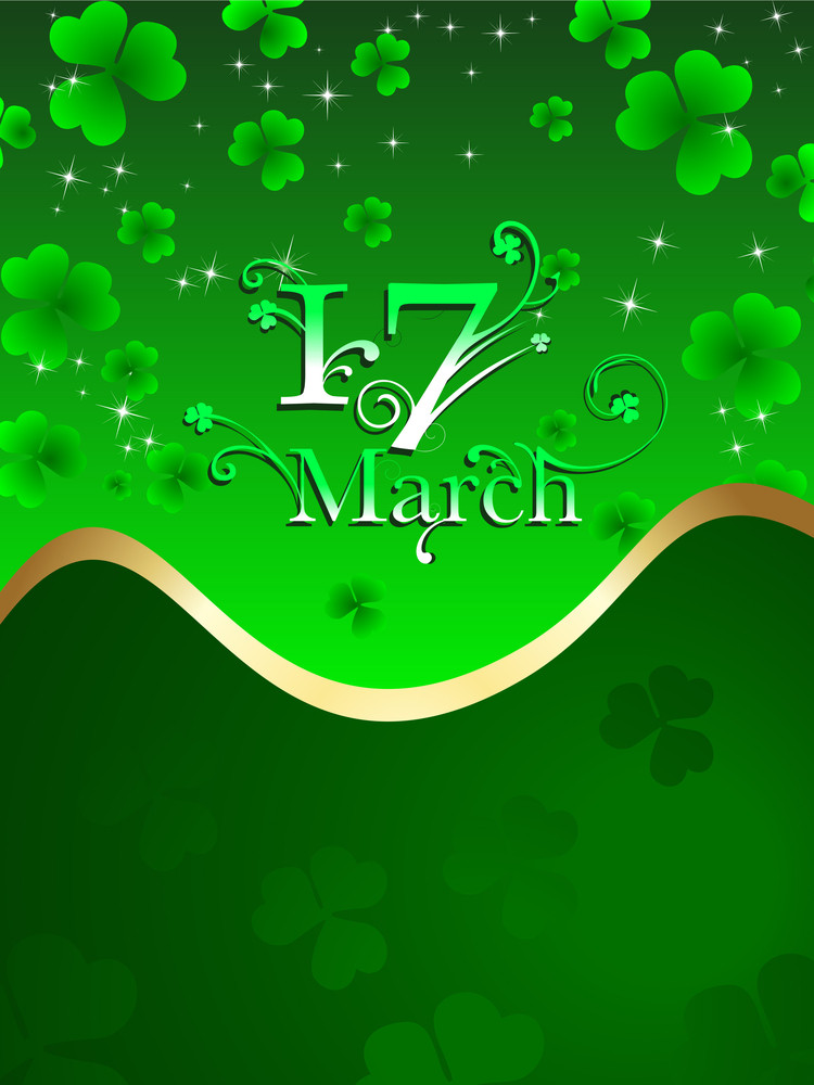 Vector Shiny  Background For St. Patrick's Day.