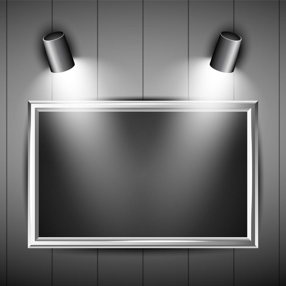 Vector Shiny Presentation Of A Frame.