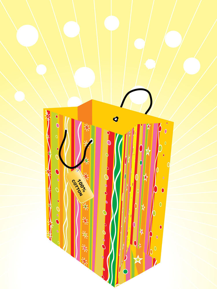 Vector Shopping Bag With Tag
