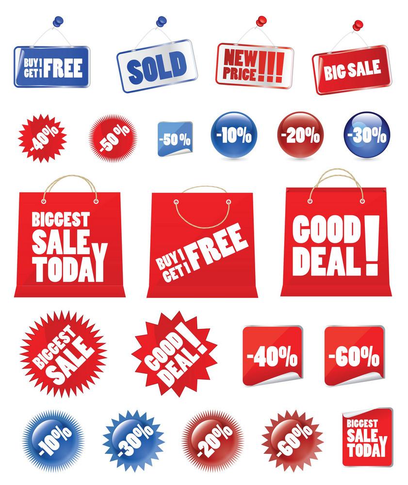 Vector Shopping Set