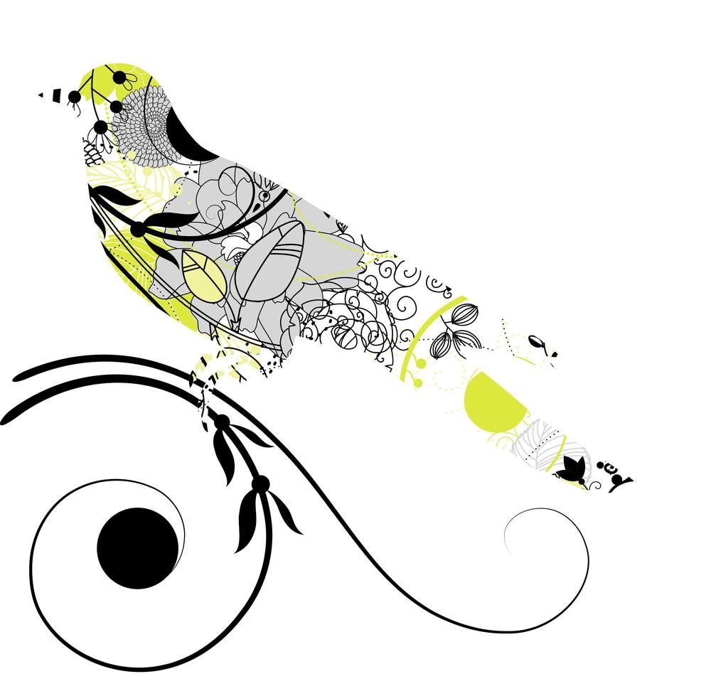 Vector Silhouette Of The Bird