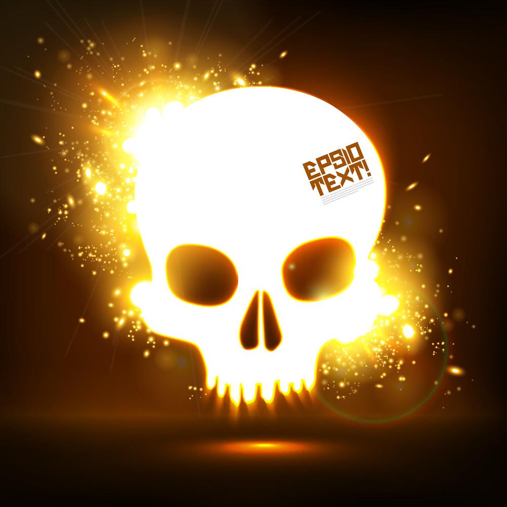 Vector Skull Sparkling