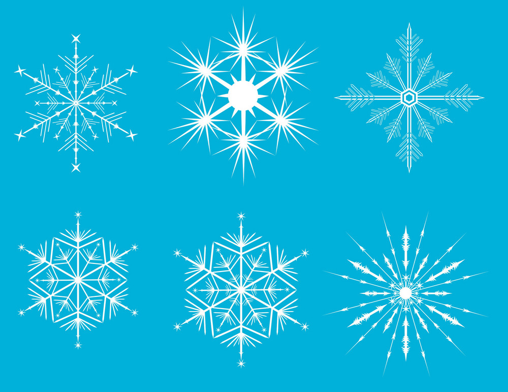 Vector Snow Flakes For Your Winter Brushes And Illustrations