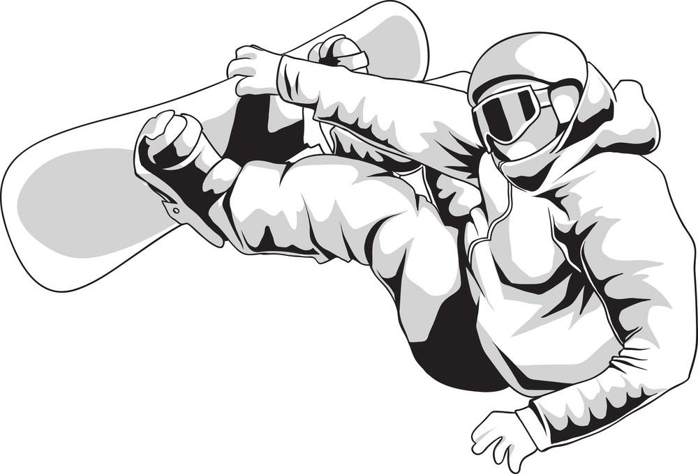Vector Snowboarder