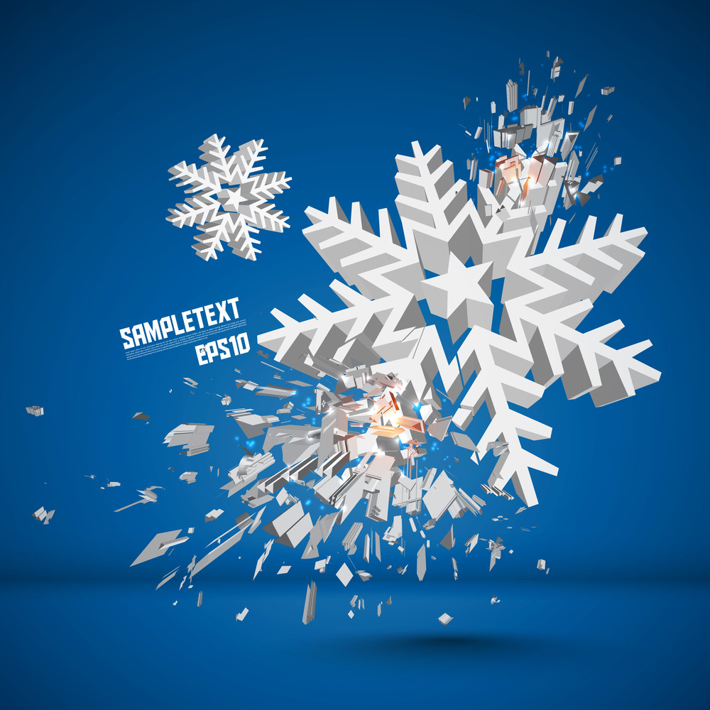 Vector Snowflake Crushing
