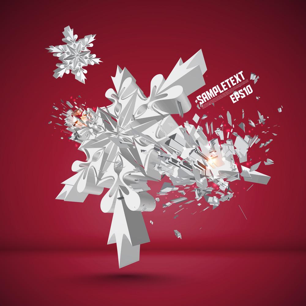 Vector Snowflake Crushing
