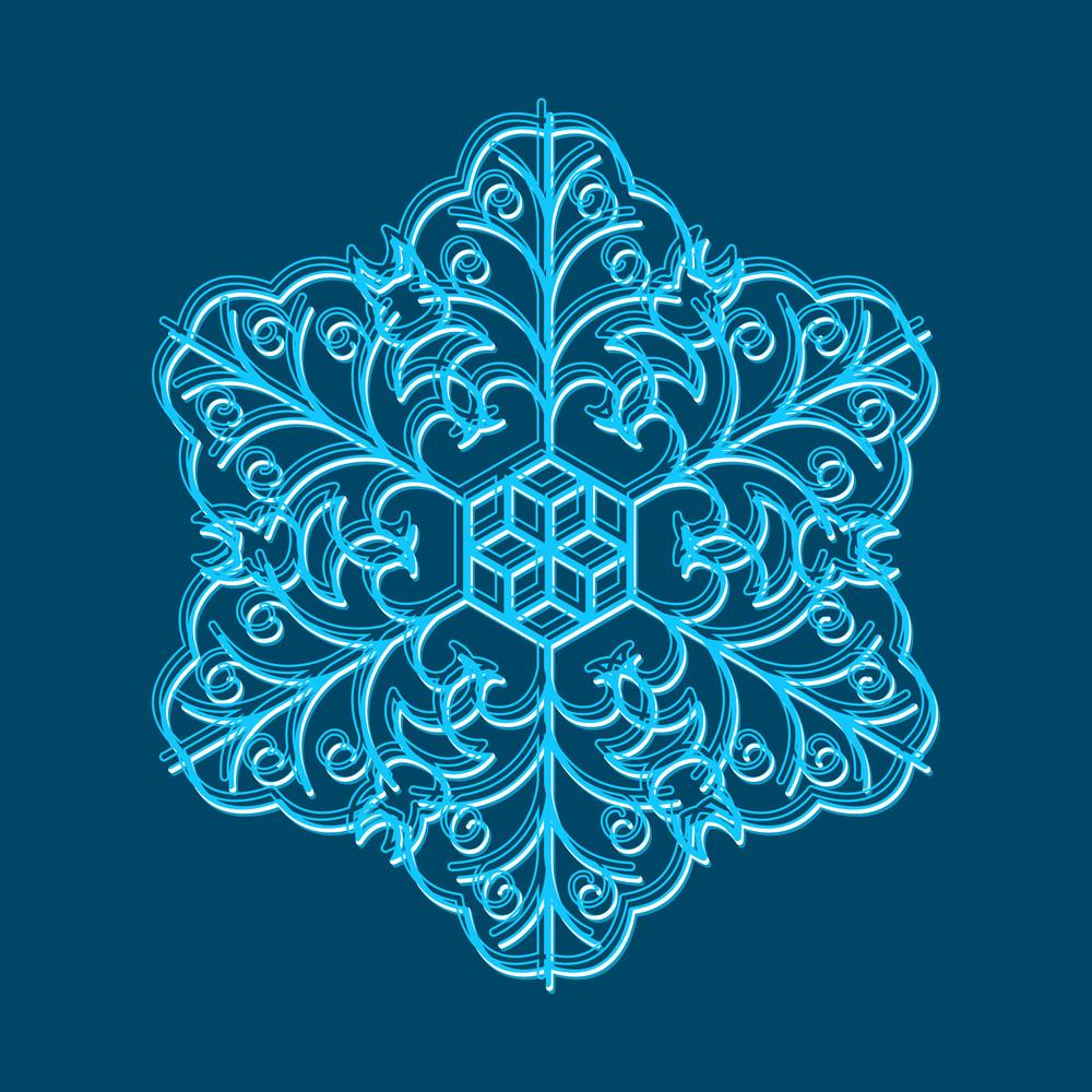 Vector Snowflake Element