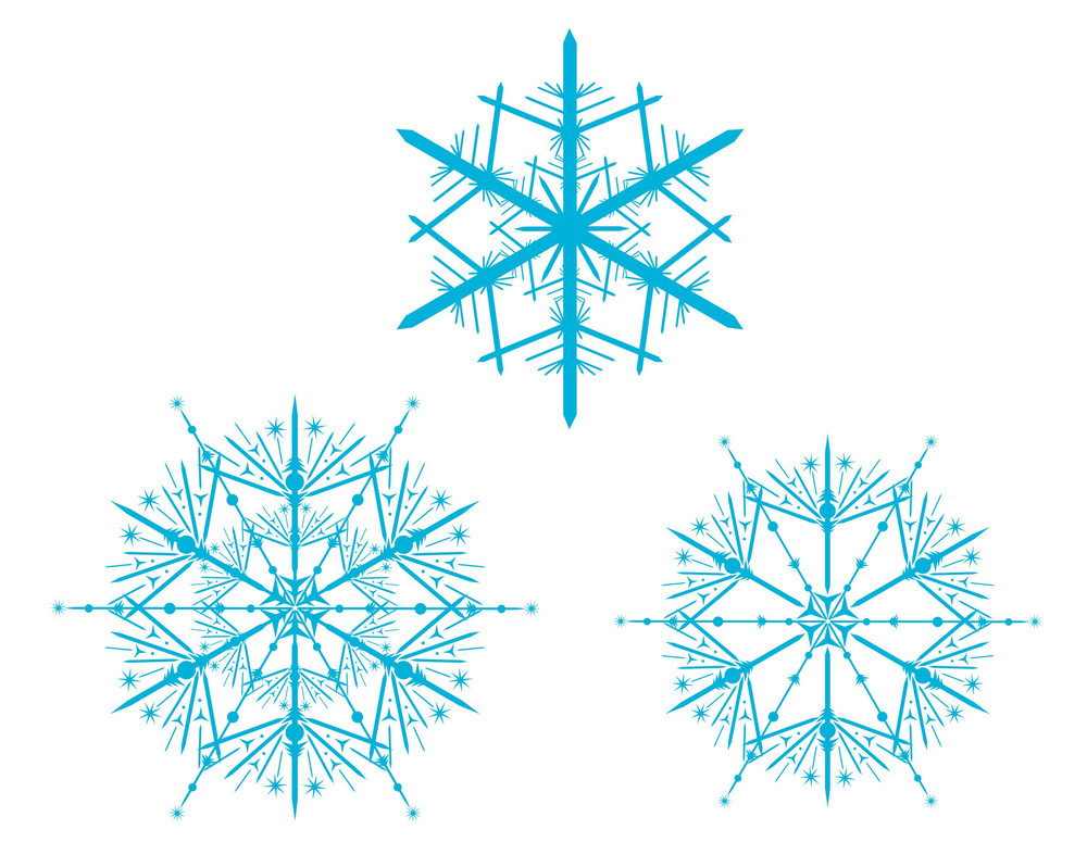 Vector Snowflakes Colection 3