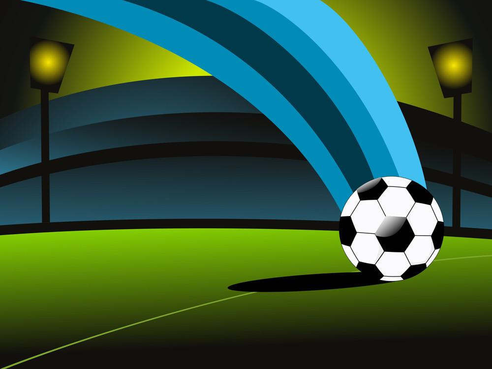 Vector Soccer Match Stadium Background