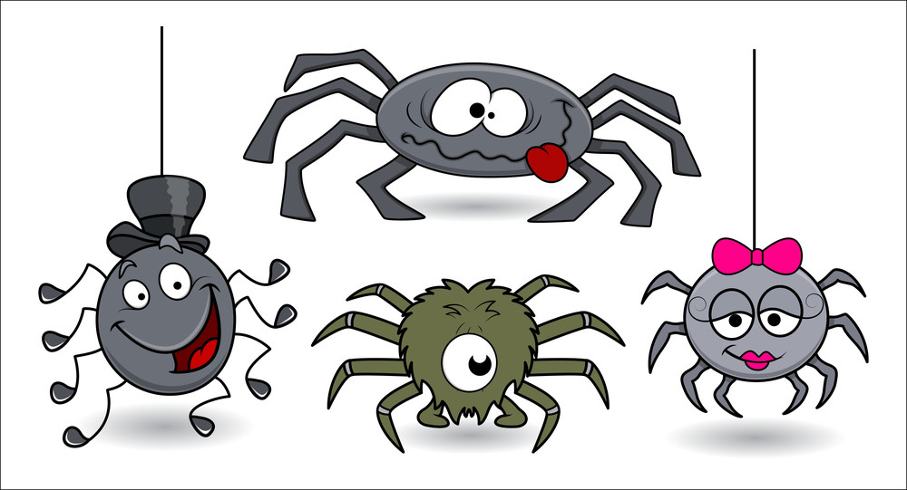 Vector Spiders Funny - Set