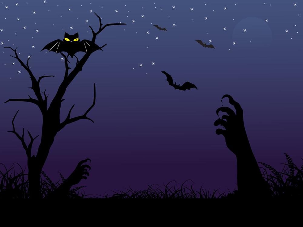 Vector Spooky Halloween Background