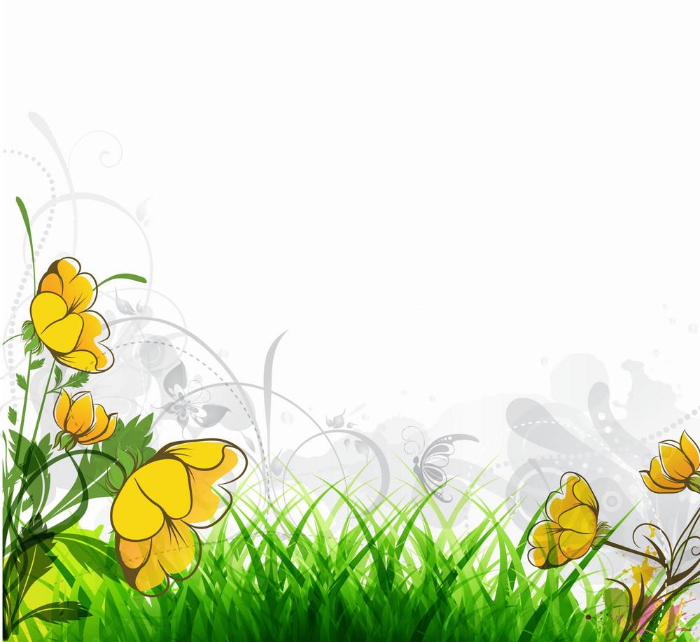 Vector Spring Floral Illustration