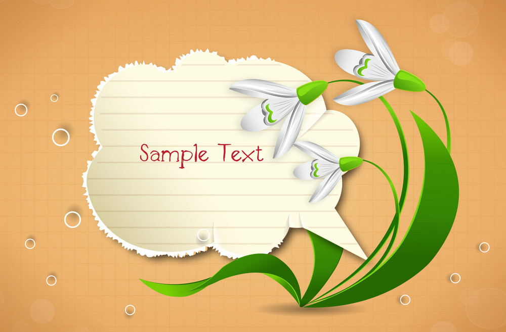 Vector Spring Frame With Floral