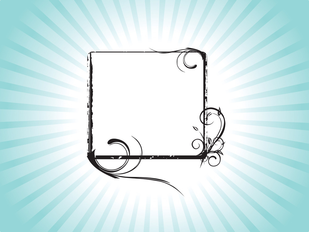 Vector Squire Frame With Curve Elements In Green