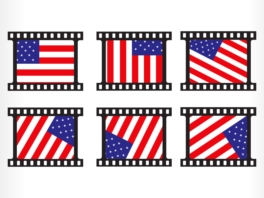 Vector Stamp With Us Flag