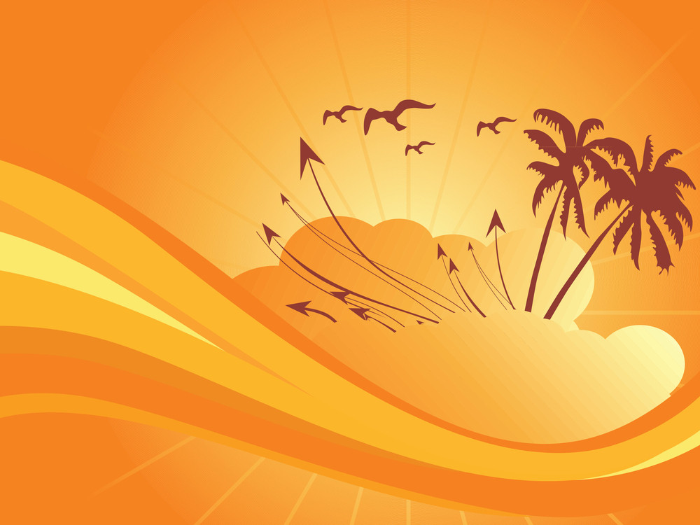 Vector Summer Background For Text