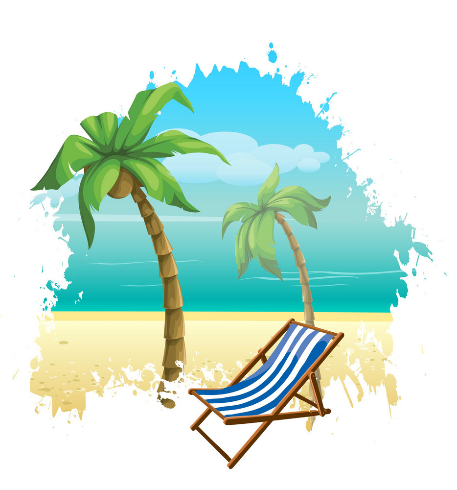Vector Summer Background With Hammock