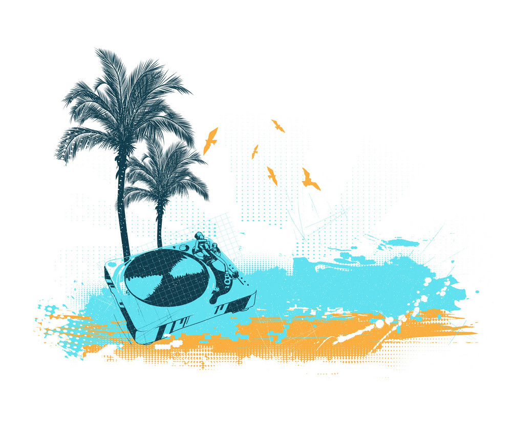 Vector Summer Music Illustration