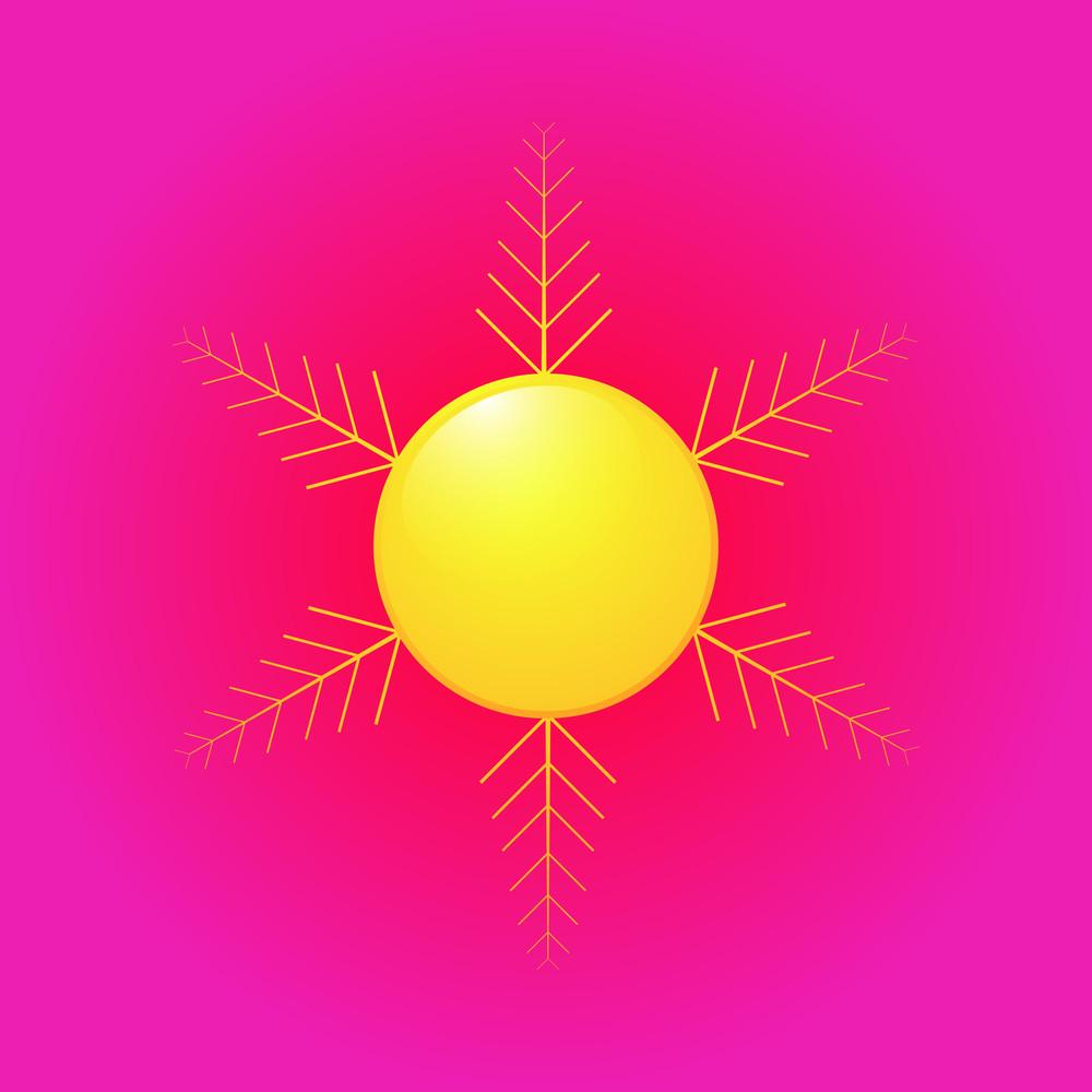 Vector Sun Floral Design