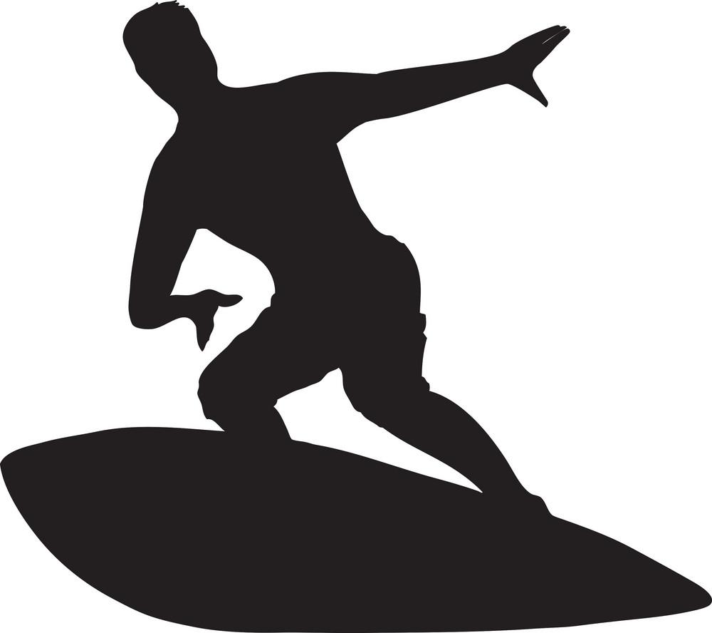 Vector Surfer Silhouette