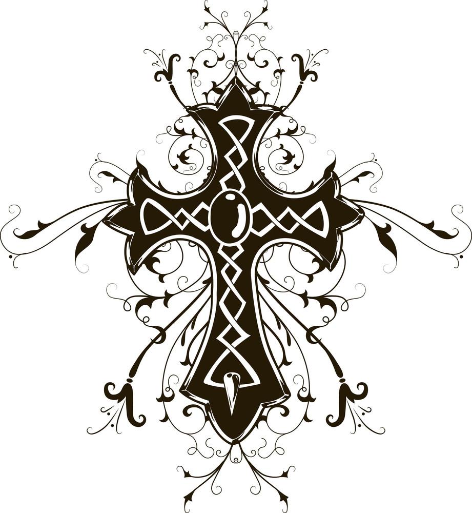 Vector T-shirt Design With Cross