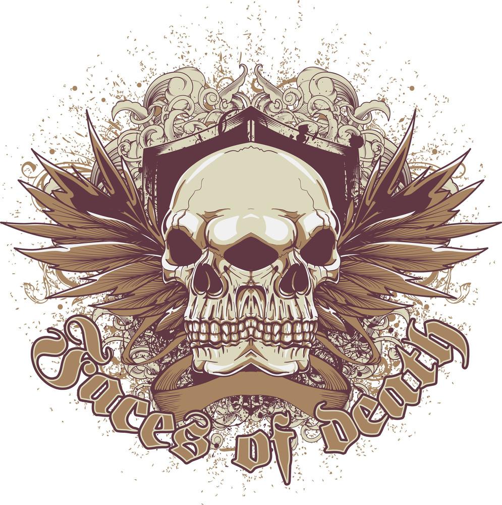Vector T-shirt Design With Emblem