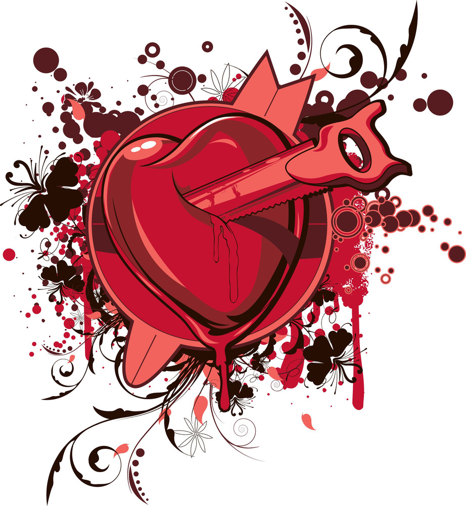 Vector T-shirt Design With Heart