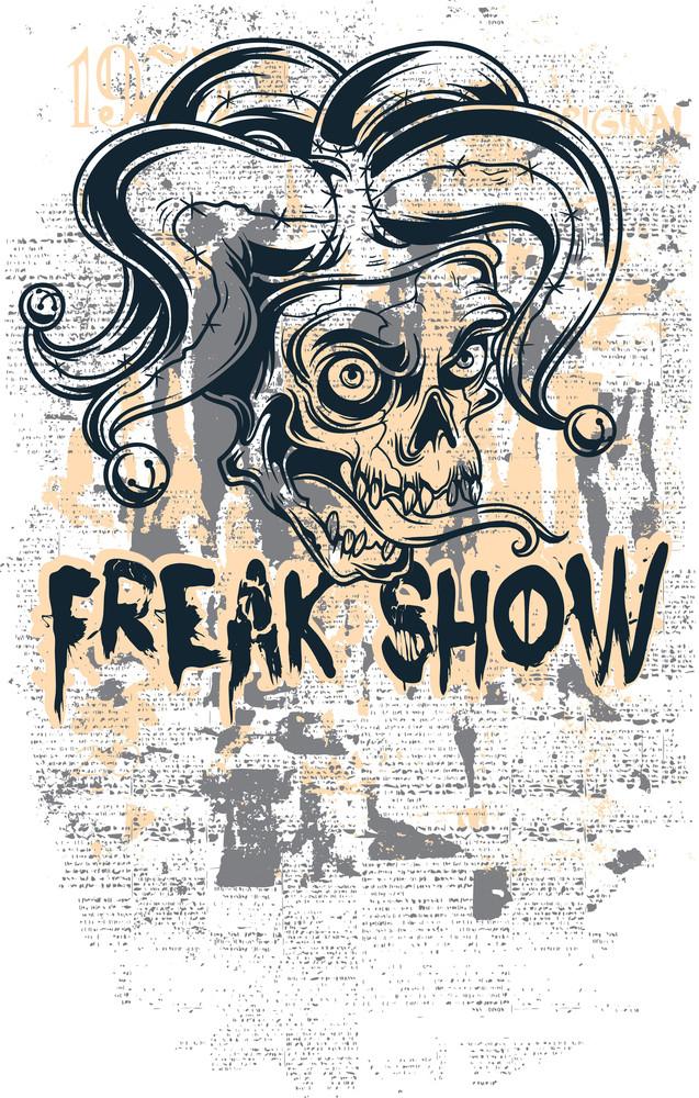 Vector T-shirt Design With Joker Skull