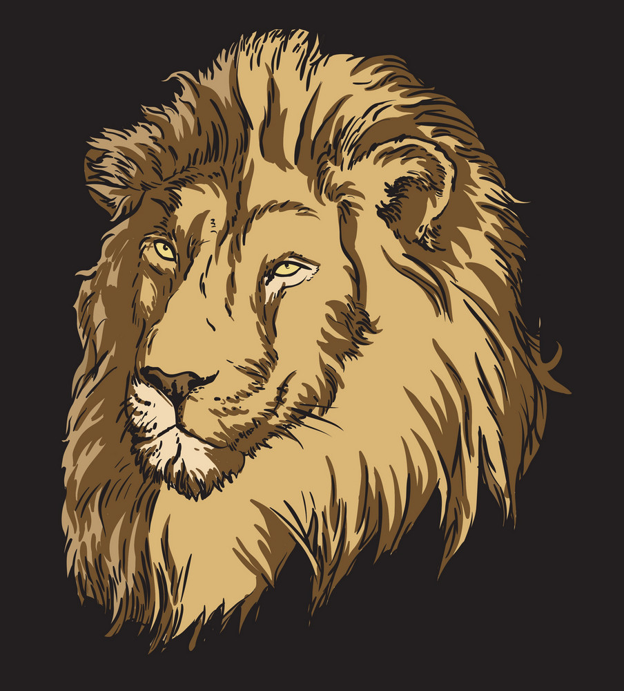 Vector T-shirt Design With Lion