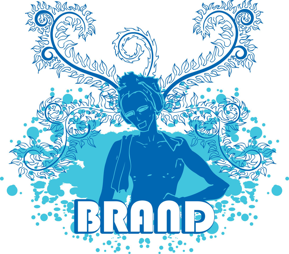 Vector T-shirt Design With Woman And Floral