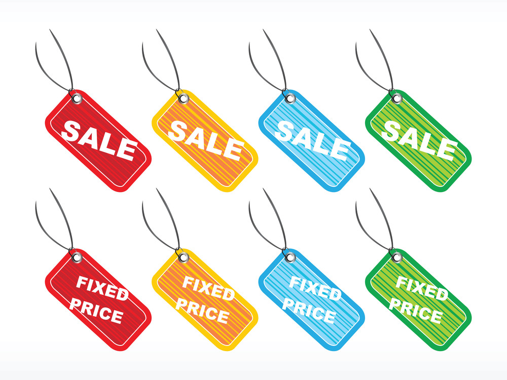 Vector Tags For Fixed Price Sale