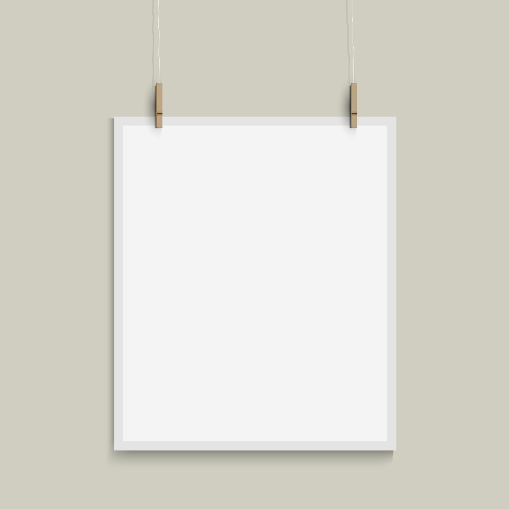 Vector Template Of Paper Sheet
