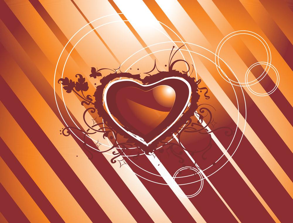 Vector Texture Of Grungy Hearts Concept