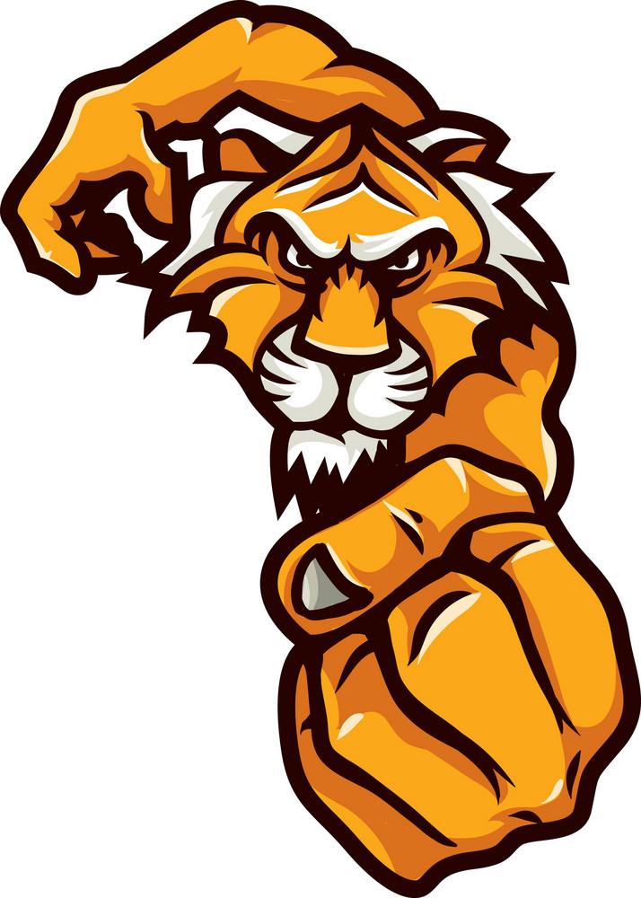 Vector Tiger Mascot