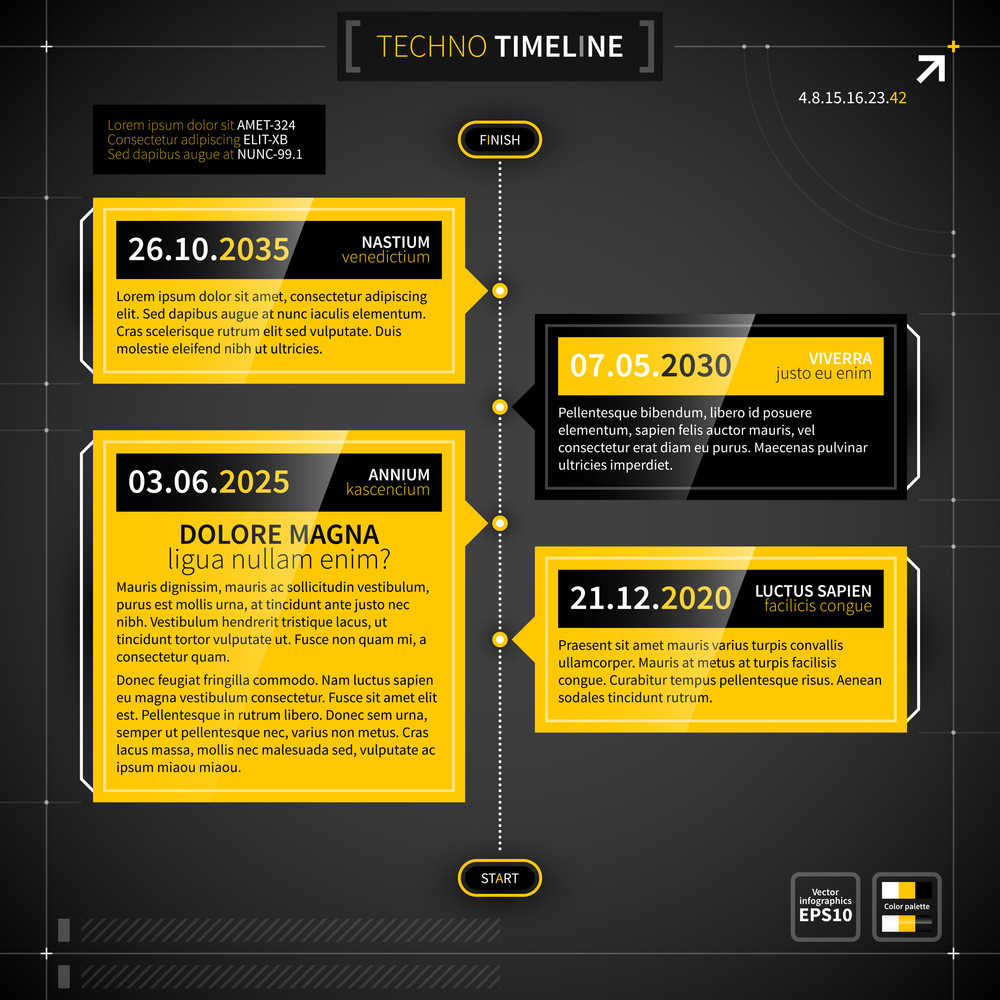 Vector Timeline In Techno Style.