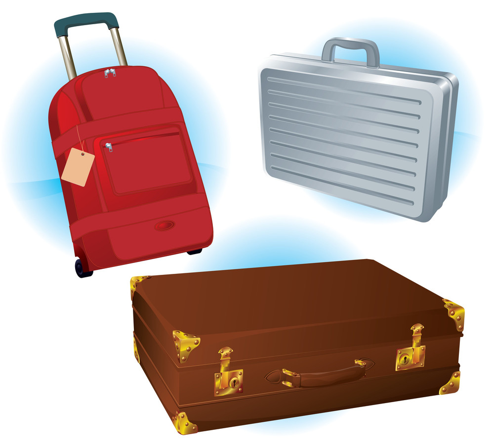 Vector Travel Bags Set.