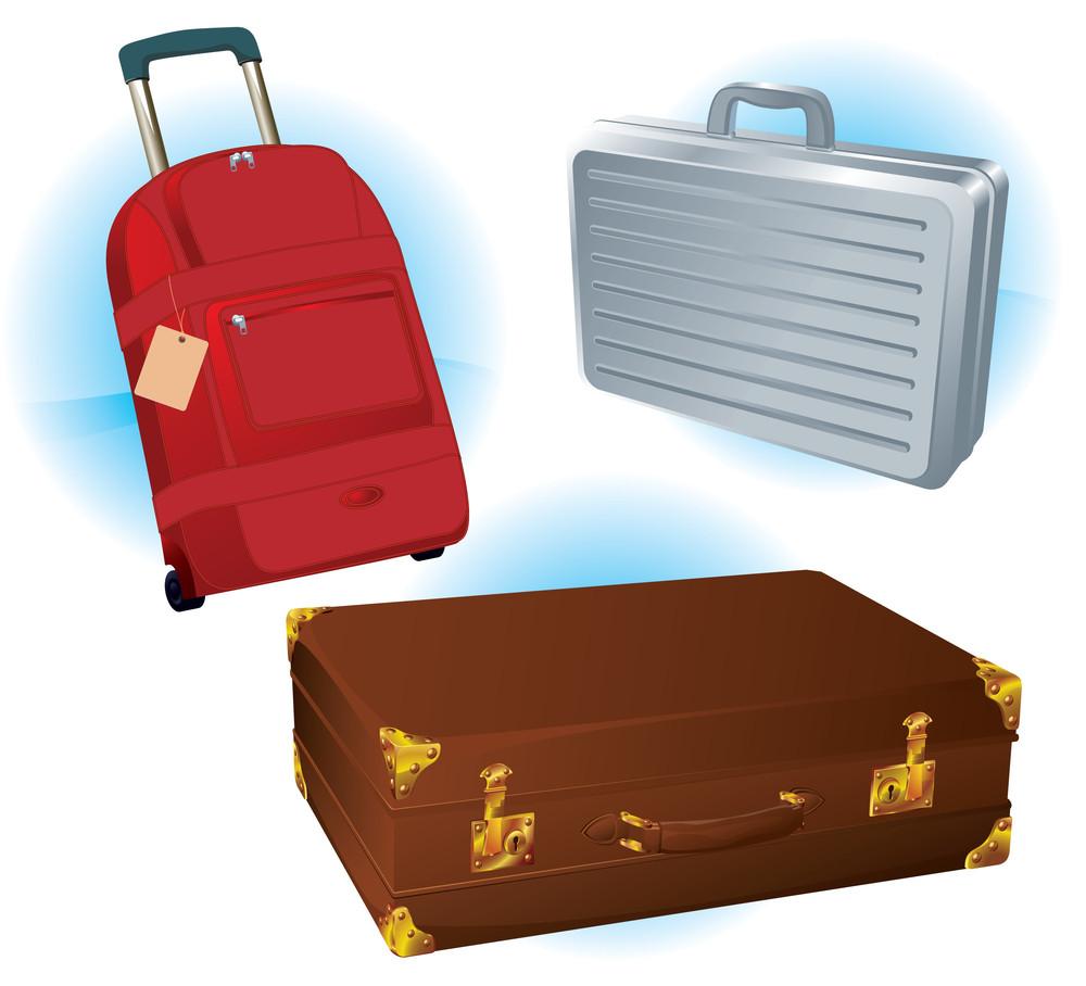 Vector Travel Bags Set.