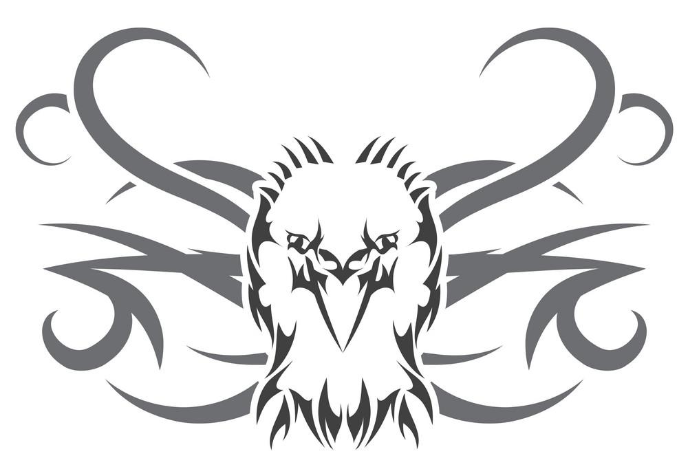 Vector Tribal Tatoo Black Shape