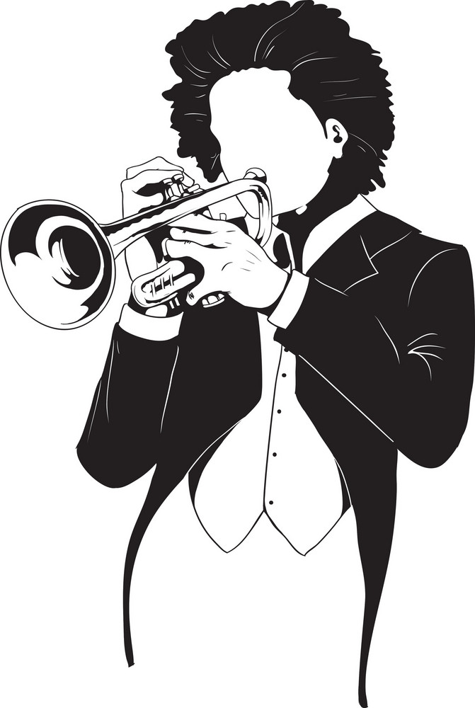 Vector Trumpet Player