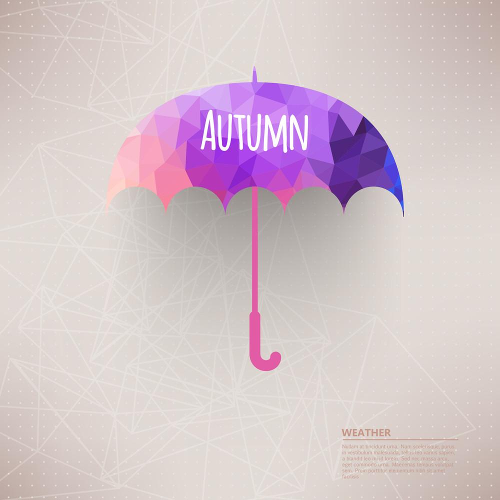 Vector Umbrella Symbol Made Of Triangles