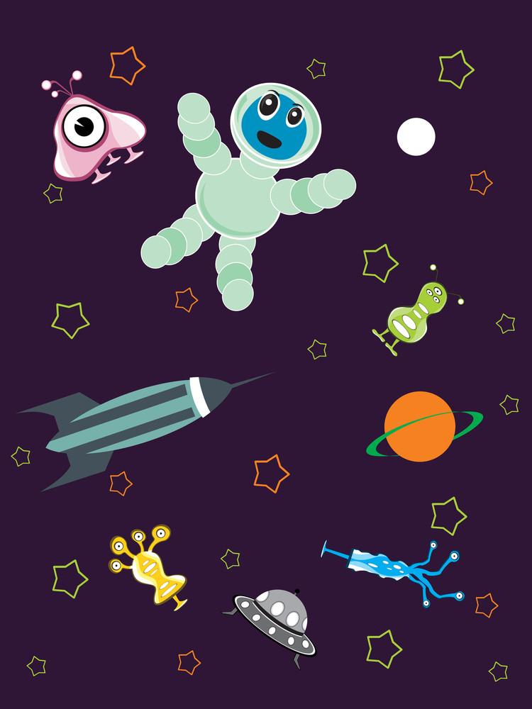 Vector Universe Pattern Illustration