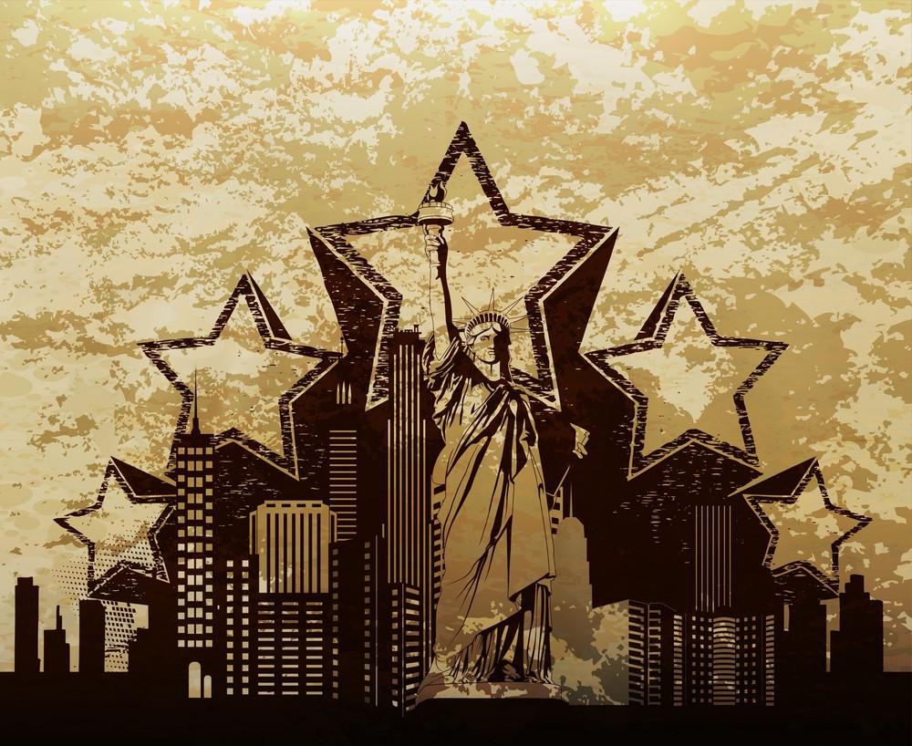 Vector Urban Illustration With Grunge