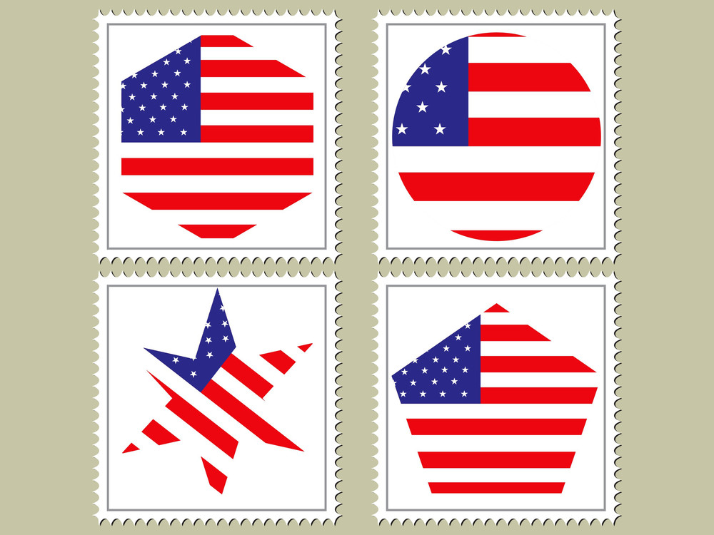 Vector Usa Flag Stamp