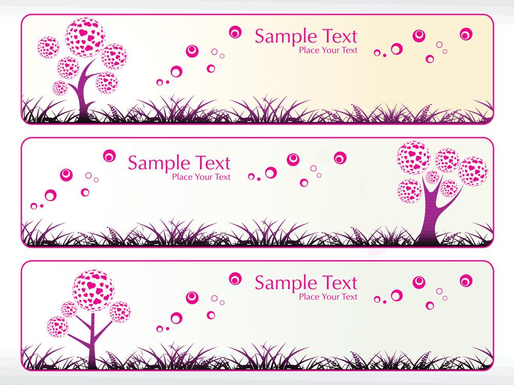 Vector Valentine Banner