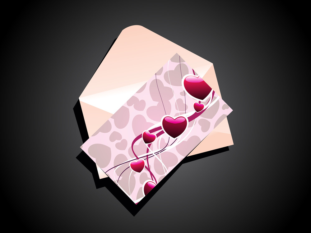 Vector Valentine Day Greeting Card