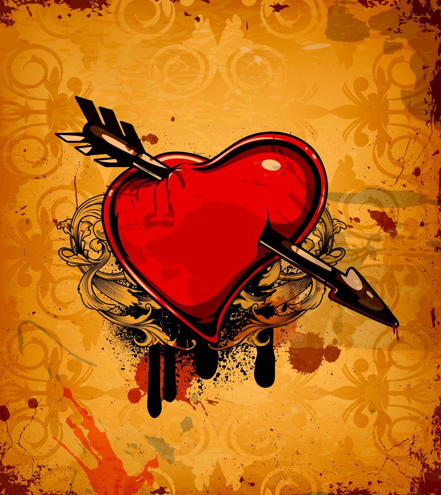 Vector Valentine Grunge Background