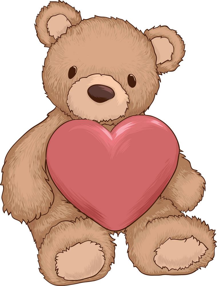 Vector Valentine Teddybear