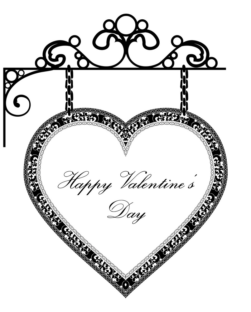 Vector Valentines Background With Heart