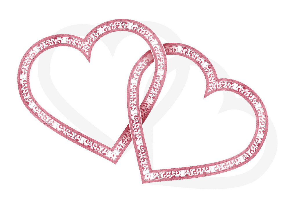 Vector Valentines Background With Hearts